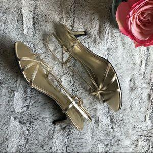 Lauren Ralph Lauren Gold Metallic Sandals Sz 7
